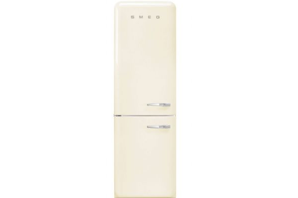 Smeg 50s Retro Style Cream Aesthetic Left Hinge Refrigerator - FAB32UCRLN