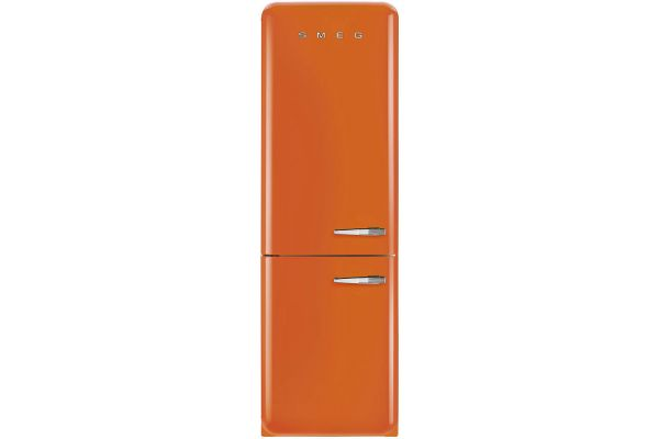 Smeg 50s Retro Style Aesthetic Left Hinge Orange Refrigerator - FAB32UORLN