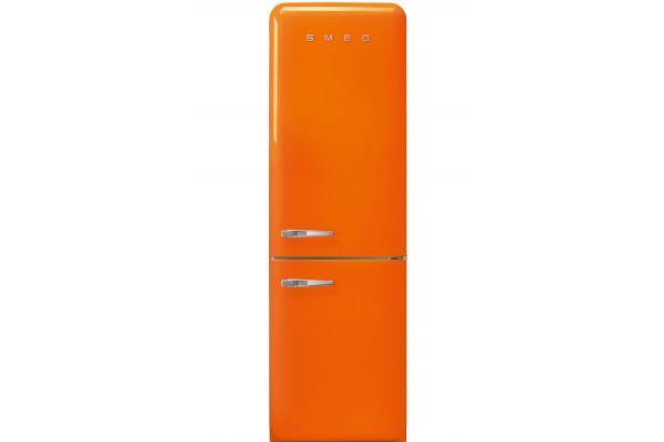Smeg 50s Retro Style Aesthetic Right Hinge Orange Refrigerator - FAB32UORRN