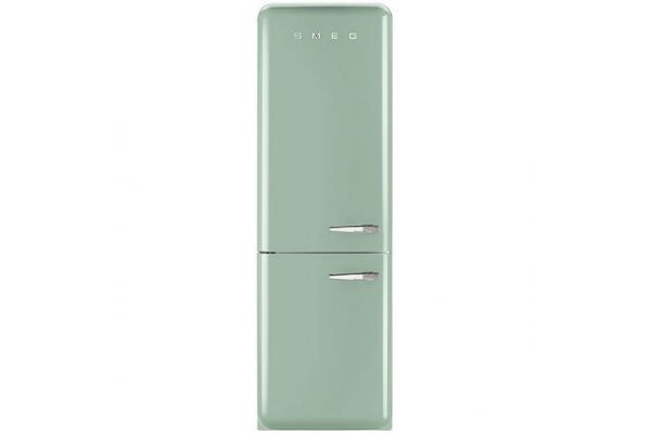Smeg 50s Retro Style Aesthetic Left Hinge Pastel Green Refrigerator - FAB32UPGLN