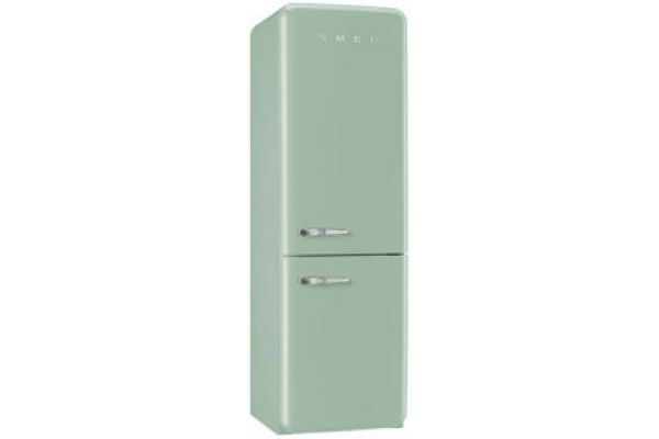 Smeg 50s Retro Style Aesthetic Right Hinge Pastel Green Refrigerator  - FAB32UPGRN