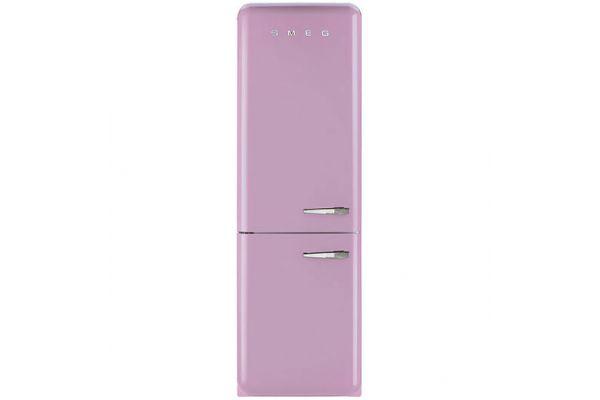 Smeg 50s Retro Style Aesthetic Left Hinge Pink Refrigerator - FAB32UPKLN