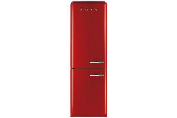 Smeg 50s Retro Style Aesthetic Left Hinge Red Refrigerator - FAB32URDLN