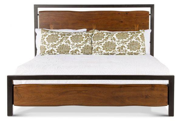 Large image of Home Trends & Design Aspen Walnut King Bed - FAS-PBKWN