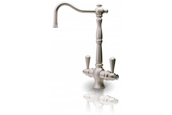 Large image of APEC Water Rialto Brushed Nickel Lead-Free Hot And Cold Water Faucet - FAUCET-HC-RIA-NP
