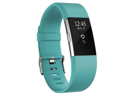 Fitbit Charge 2 Teal Large Activity Tracker  - FB407STEL