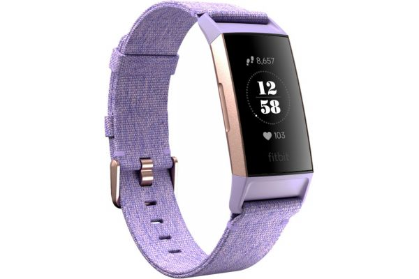 Fitbit Charge 3 Special Edition Lavender Woven Advanced Fitness Tracker - FB410RGLV