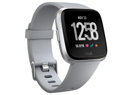 Fitbit Versa Grey & Silver Aluminum Smartwatch - FB504SRGY