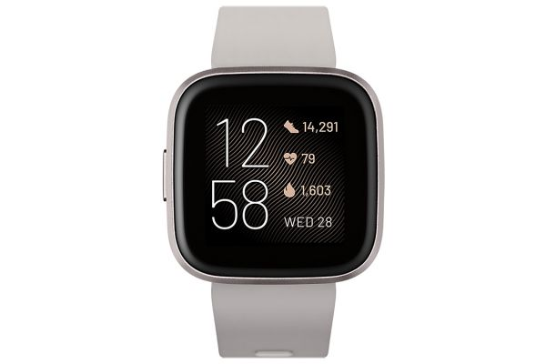 Large image of Fitbit Versa 2 Stone And Mist Grey Aluminum Fitness Smartwatch - FB507GYSR