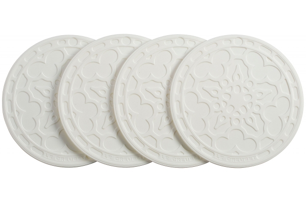 Large image of Le Creuset 4-Pack White French Coasters - FB510-16
