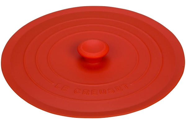 """Large image of Le Creuset 8"""" Flame Silicone Lid - FB708-2"""