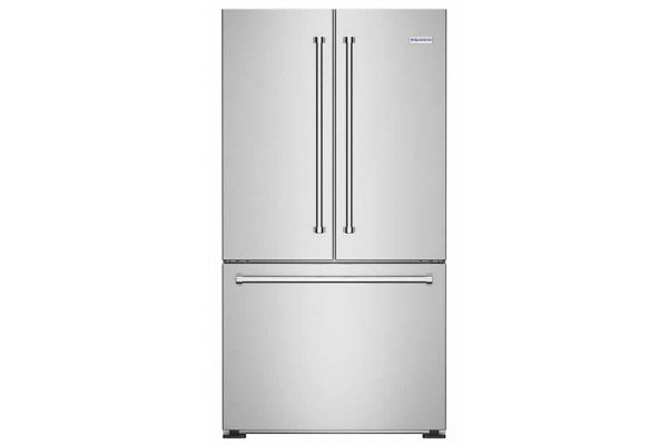"""Large image of BlueStar 36"""" Stainless Steel Counter-Depth French Door Refrigerator - FBFD360"""