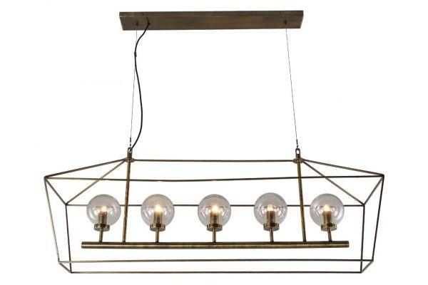 Large image of Home Trends & Design Boho 5-Light Chandelier - FBO-5LP