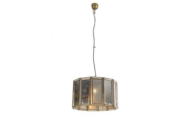Large image of Home Trends & Design Boho Antique Brass Large Round Chandelier - FBO-CLR1