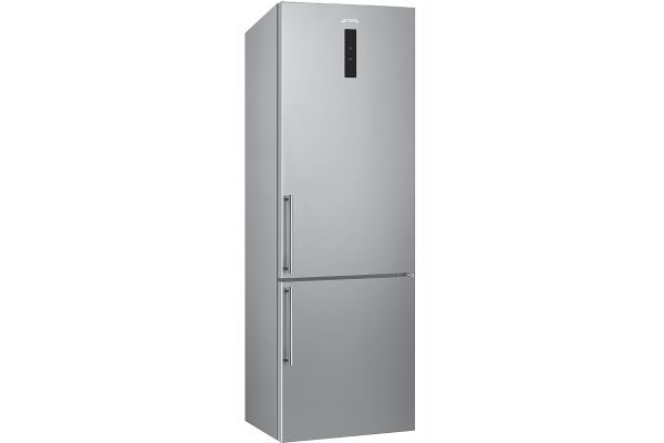 "Large image of Smeg 24"" Stainless Steel Bottom-Freezer Refrigerator - FC200UXE"