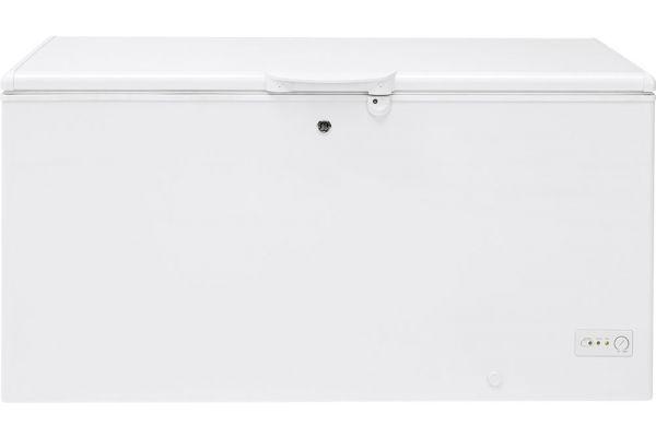 Large image of GE 15.7 Cu. Ft. White Manual Defrost Chest Freezer - FCM16DLWW