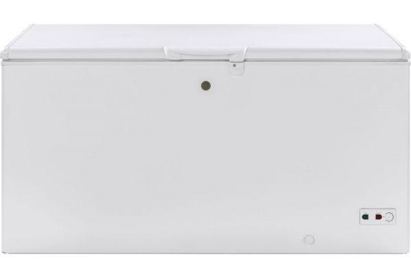Large image of GE 15.7 Cu. Ft. White Manual Defrost Chest Freezer - FCM16SLWW