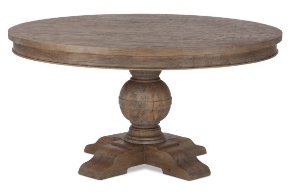 """Large image of Home Trends & Design 60"""" Weathered Teak Colonial Plantation Round Dining Table - FCP-RD60WT"""