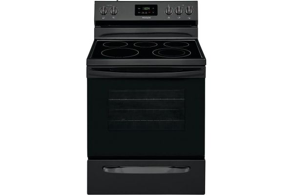 "Large image of Frigidaire 30"" Black Freestanding Electric Range - FCRE3052AB"