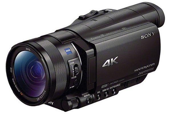 "Large image of Sony Black 4K Camcorder With 1"" Sensor - FDRAX100/B"