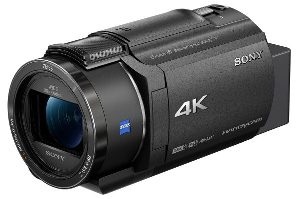 Large image of Sony Black AX43 4K Handycam Camcorder - FDR-AX43