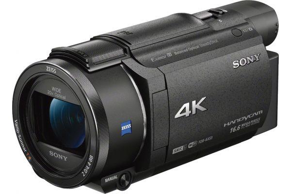Large image of Sony Black 4K HD Handycam Camcorder - FDRAX53/B