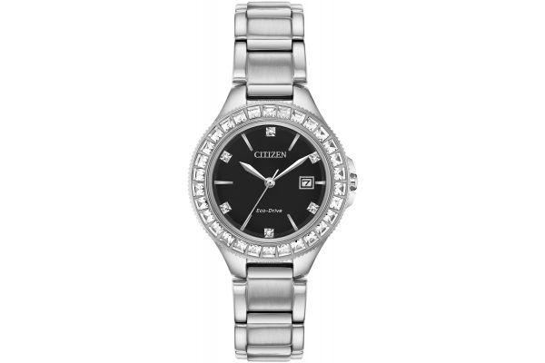Large image of Citizen Silhouette Crystal Stainless Steel Womens Watch - FE119053E