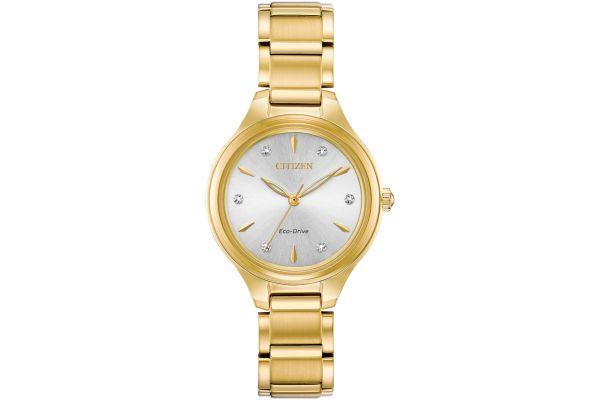 Citizen Eco-Drive Corso Gold Tone Ladies Watch - FE2102-55A