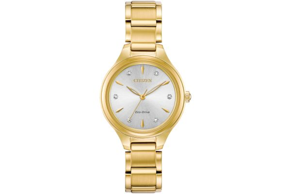 Large image of Citizen Eco-Drive Corso Gold Tone Ladies Watch - FE210255A