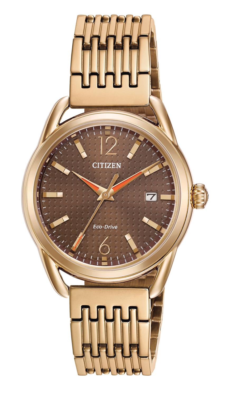 Citizen Eco Drive Ltr Rose Gold Womens Watch Fe6083 56x