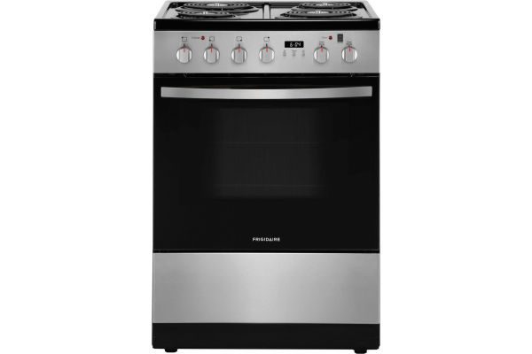 """Large image of Frigidaire 24"""" Stainless Steel Freestanding Electric Range - FFEH2422US"""