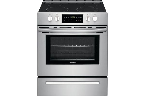 """Large image of Frigidaire 30"""" Stainless Steel Freestanding Electric Range - FFEH3051VS"""