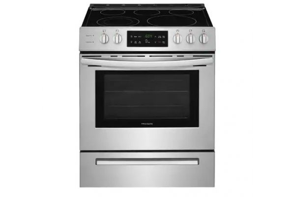"""Large image of Frigidaire 30"""" Stainless Steel Front Control Freestanding Electric Range - FFEH3054US"""