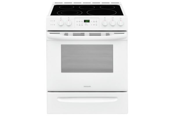 """Large image of Frigidaire 30"""" White Front Control Freestanding Electric Range - FFEH3054UW"""