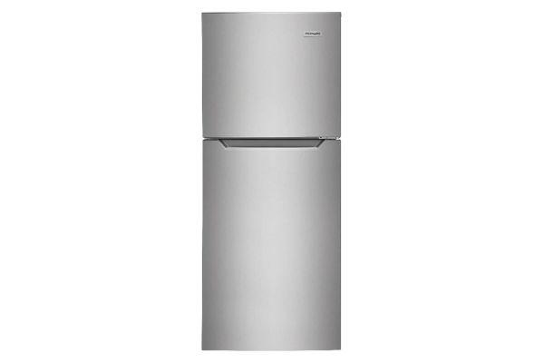 Large image of Frigidaire 11.6 Cu. Ft. Brushed Steel Top Freezer Apartment-Size Refrigerator - FFET1222UV