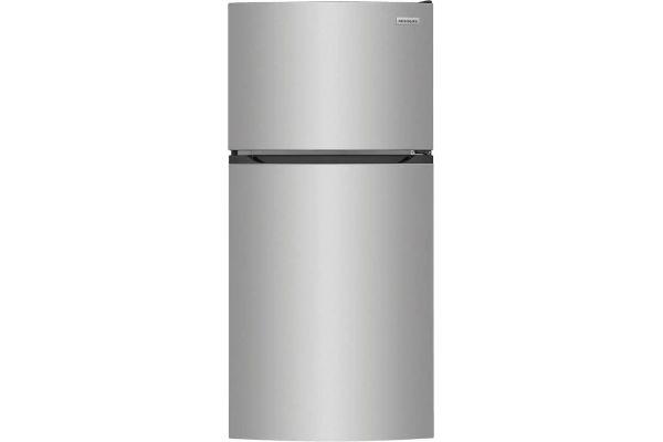 Large image of Frigidaire 13.9 Cu. Ft. Brushed Steel Top Freezer Refrigerator - FFHT1425VV