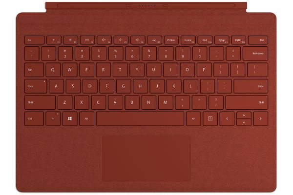 Large image of Microsoft Surface Pro Signature Poppy Red Type Cover - FFP-00101