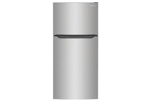 Large image of Frigidaire 18.3 Cu. Ft. Stainless Steel Top Freezer Refrigerator - FFTR1835VS