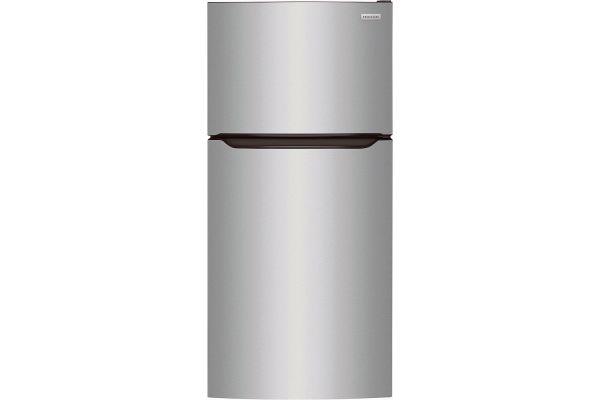 Large image of Frigidaire 20 Cu. Ft. Stainless Steel Top Freezer Refrigerator - FFTR2045VS