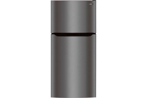 Large image of Frigidaire 20 Cu. Ft. Black Stainless Steel Top Freezer Refrigerator - FFTR2045VD