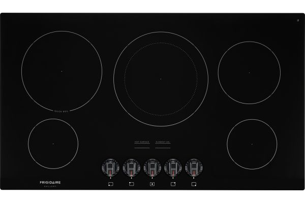 """Large image of Frigidaire Gallery 36"""" Black Electric Cooktop - FGEC3648UB"""