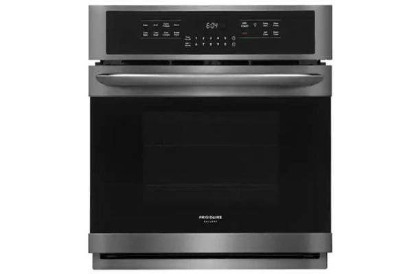 """Large image of Frigidaire Gallery 27"""" Smudge-Proof Black Stainless Steel Single Electric Wall Oven - FGEW2766UD"""