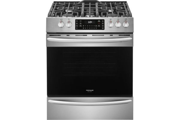 """Large image of Frigidaire Gallery 30"""" Smudge-Proof Stainless Steel Front Control Gas Range With Air Fry - FGGH3047VF"""