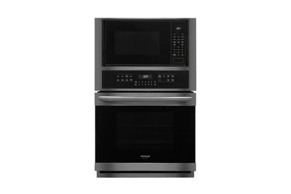 """Large image of Frigidaire Gallery 27"""" Black Stainless Steel Electric Microwave Combination Oven - FGMC2766UD"""