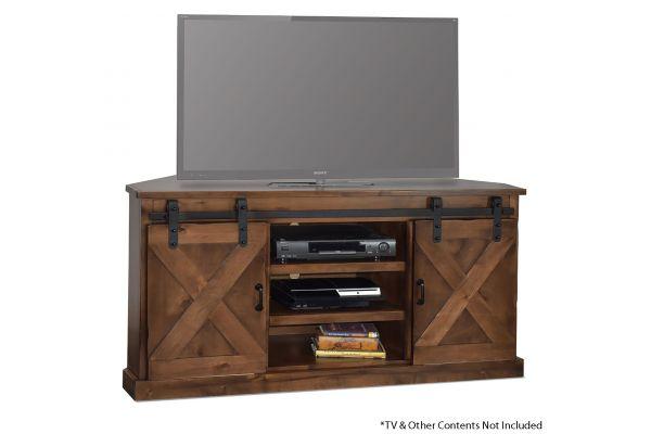 "Large image of Legends Furniture Farmhouse 66"" Corner TV Console - FH1412-AWY"