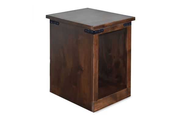 Large image of Legends Furniture Farmhouse Aged Whiskey Chairside Table - FH4410-AWY