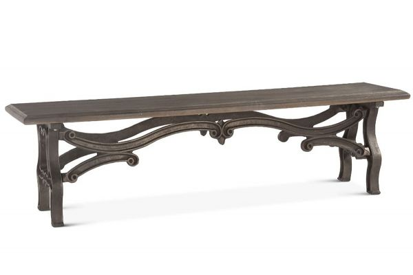 """Large image of Home Trends & Design Hobbs 68"""" Weathered Gray Bench - FHB-BN68GG"""