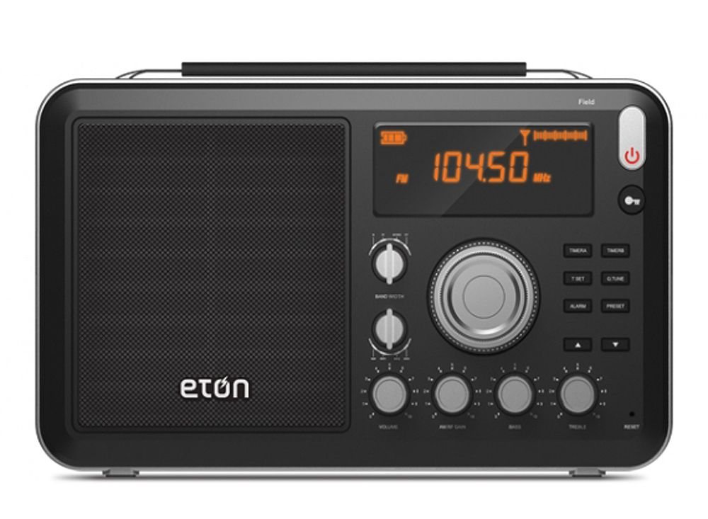 Eton Field Am Fm Shortwave Black Portable Radio Fieldbt
