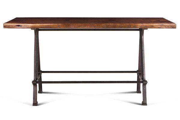 "Large image of Home Trends & Design 72"" Walnut Industrial Loft Gathering Dining Table - FIL-GT72WNAZ"
