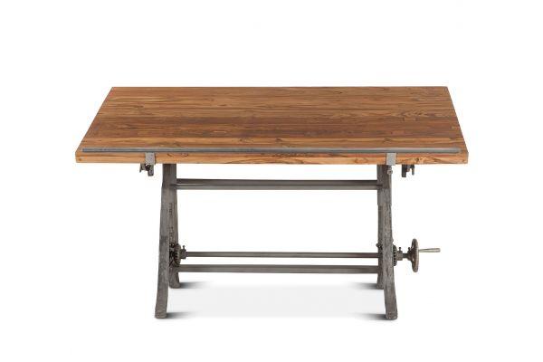 """Large image of Home Trends & Design Industrial Loft Natural Teak 62"""" Drafting Desk - FIL-OD62"""